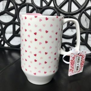 Coco & Lola White Coffee Tumbler With Hearts